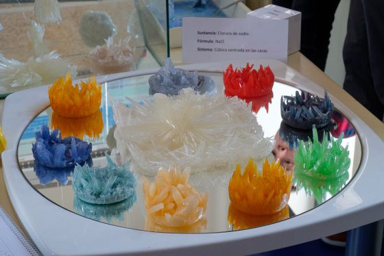 Cristales presentados al I Concurso de Cristalización en La Escuela